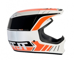 Motokrosová helma ALS2 HELMET 2012 white-black-orange