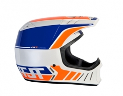 Motokrosová helma ALS2 HELMET 2012 white-blue-orange